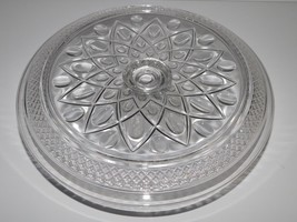 "IMPERIAL CAPE COD GLASS Pedestal cake plate stand 11"" x 6""  chip dip tray - $46.27"