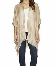 Echo Design Geometric Ruana Poncho Wrap Shirt, Natural White Sand - $18.81