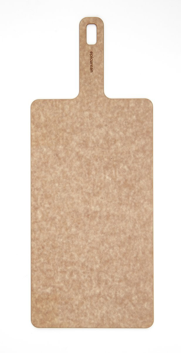 Epicurean Handy Series Cutting Board with Handle, 14-Inch by 7-Inch, Natural