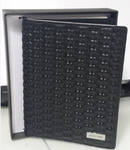 Michael Kors Jet Set Embossed leather Passport Mk Logo Card holder Wallet Black - $66.33