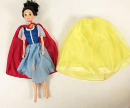 Lot Disney Snow White Doll & Clothes Dwarfs Authentic 90s 2 Outfits - $24.74