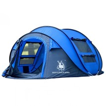 Blue Outdoor Automatic Throw Tent Waterproof Camping Hiking Family Tent - $149.95