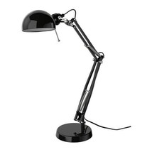 IKEA FORSÅ Work lamp black adjustable arm - $32.81