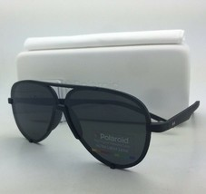POLAROID Sunglasses PLD 6017/S DL5 Y2 60-08 Black Rubberized Aviator w/G... - $119.98