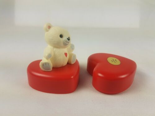 Hallmark Valentines Day Trinket Box Heart with White Bear on Top image 4