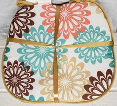 """Set of 4 CHAIR PADS CUSHIONS w/ gold strings, MULTICOLOR FLOWERS, 15""""x15... - $19.79"""