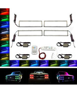 88-98 Chevy GMC Truck Multi-Color Changing LED Shift RGB Headlight Halo ... - $179.95