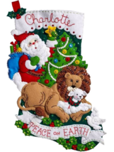 Bucilla 'Peace on Earth'  Felt Christmas Stocking Stitchery Kit, 86665 - $25.99