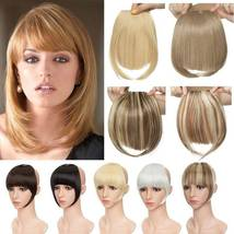 100% Natural Thin Bangs Fringe Clip in Hair Extensions Front Bangs image 4