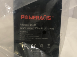 Poweraxis Dyson DC31 Replacement Battery Type A 1500mAh New - $26.71