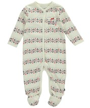 "0-3M Nautica Infant Baby Girl's ""Fair Isle Anchor"" Footed Coverall Sleeper"