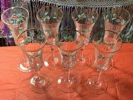 Mikasa Ribbon Holly Crystal Champagne Flute(s) #T2722  image 4