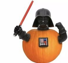 Star Wars Darth Vadar Pumpkin Push Halloween Decoration 4 Pc Set Decorat... - $22.95
