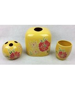 Lemonade Sunflower Bathroom Set Linens Things Tissue Cover Toothbrush Ho... - $33.95