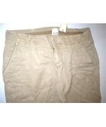 New $190 Womens 4 Ecru Style Tan Khaki Pants Crop NWT Honey Leg Buttons ... - $36.00
