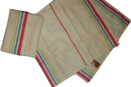 Pair of Vintage Morgan Jones Multi Color Striped Kitchen Dish Towels New... - $26.70