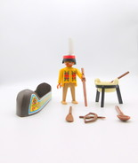 Playmobil Indian and Canoe - $9.99
