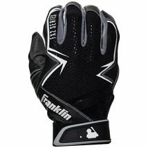 Franklin Sports MLB Freeflex 2 Youth Batting Gloves - Black/White - Medium  - $16.82