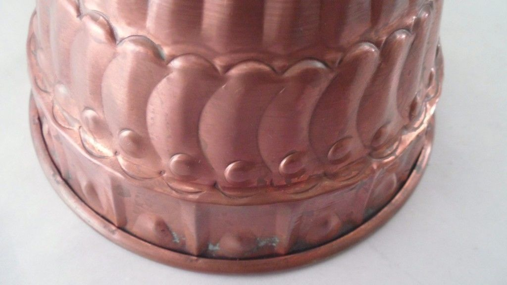 Antique Solid Copper Handmade Hand Hammered Turban Hat Food Aspic Pudding Mold