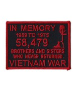 Motorcycle Jacket Embroidered Patch - Vietnam Memorial Patch (Black, Red... - $6.99