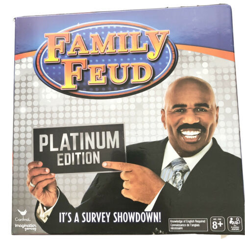 Family Feud Platinum Edition Game Featuring Steve Harvey It's a Survey Showdown - $24.74