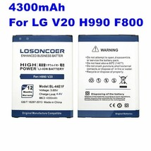 High Capacity BL-44E1F Battery For LG V20 LOSONCOER 4300mAh 3.85V Chargi... - $17.95