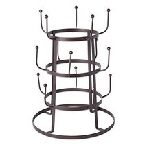 Home Traditions 3 Tier Countertop or Pantry Vintage Metal Wire Tree Stand for Co image 3