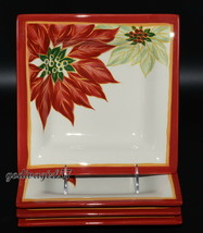 Tabletops Unlimited Espana * 4 SALAD PLATES * Celebration, Christmas, CRAZING - $19.99