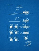 Toothbrush Patent Print - Blueprint - $7.95+