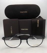 New TOM FORD Classic Eyeglasses TF 5482 001 50-21 Black & Silver Titanium Frames image 2