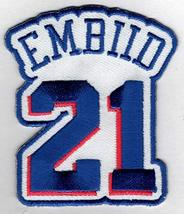 JOEL EMBIID #21 Patch - Jersey Number Embroidered DIY Sew or Iron-On Pat... - $6.88
