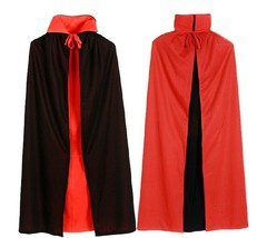 90cm single/double Long black and red Vampire cloak - $4.99+