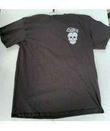 Mens Exotico Tequila Sugar Skull Logo Black T-Shirt Size L - $15.00