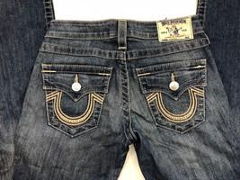 abd1a64f5 True Religion Women  39 s Jeans Straight Leg Stretch Size 25 W 32 L