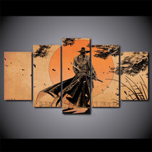 5Pcs Comic Samurai Anime Home Decor Wall Picture Printed Canvas Painting - $45.99+