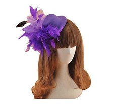 Beautiful Charming Feather Hairpin for Parties/Stage/Wedding,Hat,Purple