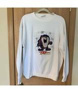 Vtg Taz Classics Off White Embroidered Sweatshirt L - $99.00