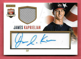 2014 James Kaprielian Panini USA Baseball Rookie Auto Jersey 81/99 - Athletics - $14.24