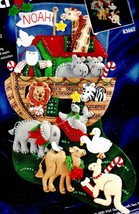 Bucilla Noahs Ark Animals Bible Religious Christmas Felt Stocking Kit 83662 - $99.95
