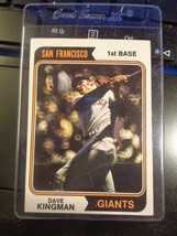 1974 Topps #610 Dave Kingman San Francisco Giants Baseball Card ~ NM - $1.88