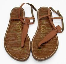 Sam Edelman womens Thong Sandals 11 M Brown Leather Shoes T-Strap Gigi F... - $23.00