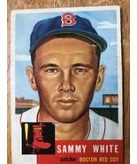1953 Topps #139 Sammy White Baseball Trading Card Catcher Boston Red Sox... - $16.82