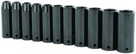 Stanley 11 Piece 1/2-Inch Drive Metric Deep Impact Socket Set, 97-126, New - $20.29