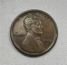 1912-S Lincoln Wheat Cent CH AU Details Coin AF335 - $124.74
