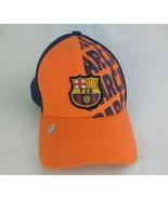 FCB FC Barcelona Orange Baseball Hat Cap New Fitted Crest - $15.43