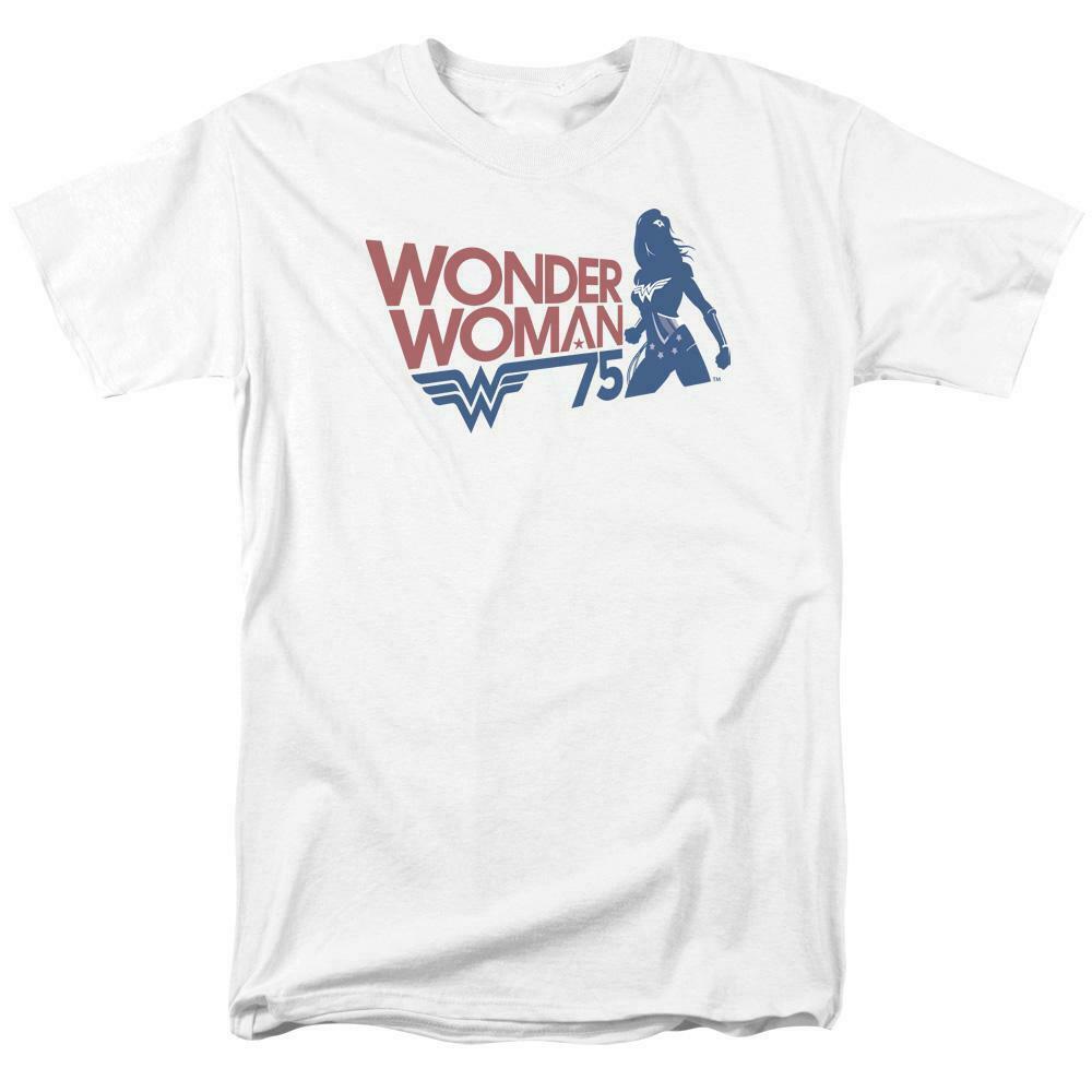 Wonder Woman Silhouette t-shirt 75th anniversary DC Comics graphic tee JLA711
