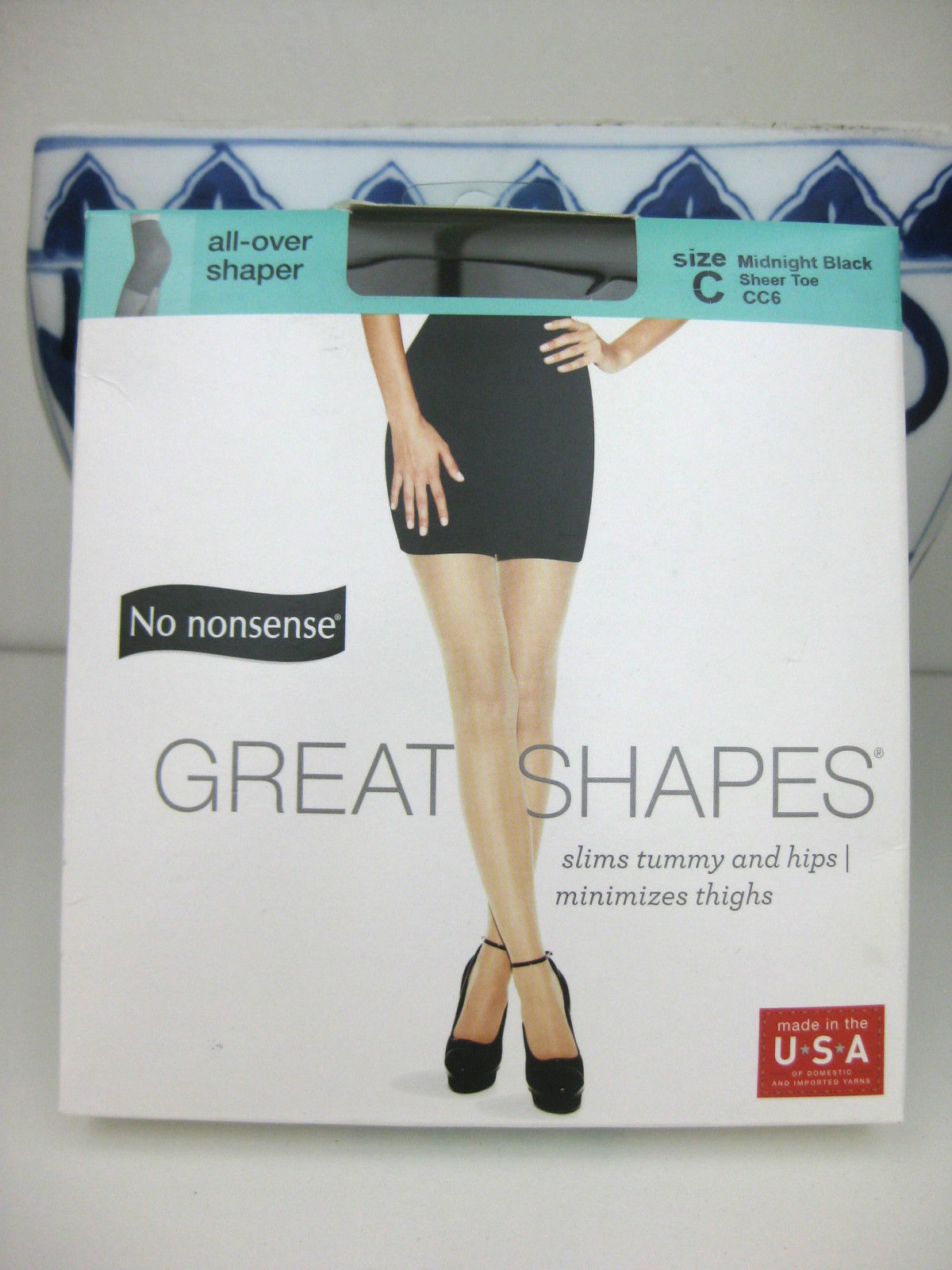 cc73a1a51880a No Nonsense PANTYHOSE Great Shapes All-Over Shaper Sheer Toe Midnight Black  C
