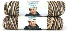 2 Count Caron 4 Oz Simply Soft Camo 11503 Woodland Camo Polyester 4 Medium Yarn - $15.99
