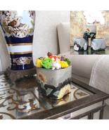 Preserved Roses Floral Arrangement in Hand Painted Ceramic Flower Pot Ze... - $29.95+