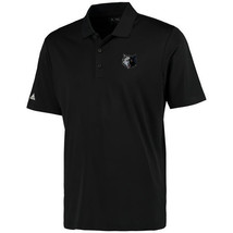 Adidas Minnesota Timberwolves Black Performance Polo Golf Shirt Size L - $35.63